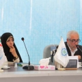 Dr.Davood Amery secretory general of IWPF & Vice-President for Legal Affairs Dr. Elham Aminzadeh